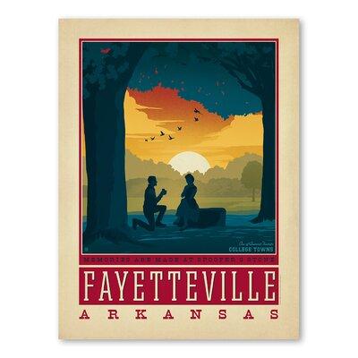 Americanflat Asa Fayetteville Arkansas Vintage Advertisement