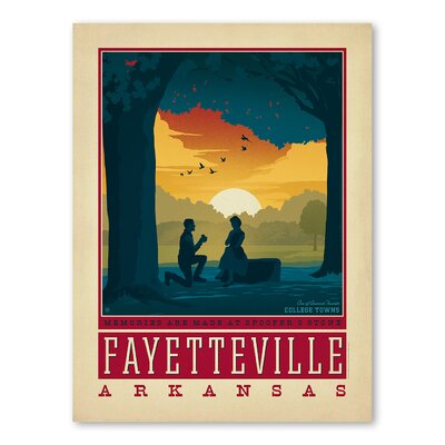 Americanflat Asa Fayettevillear Vintage Advertisement Wrapped on Canvas