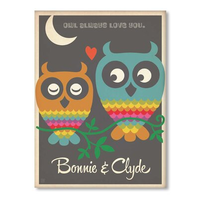 Americanflat Owl Always Love You Graphic Art