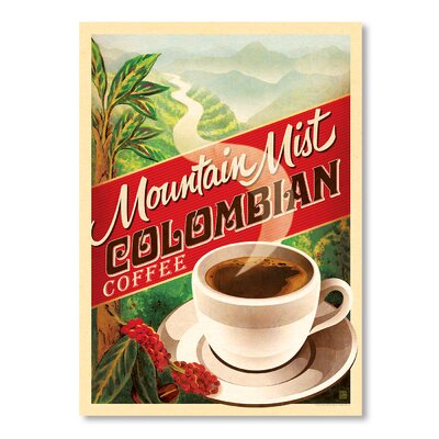 Americanflat Colombian Coffee Vintage Advertisement Wrapped on Canvas