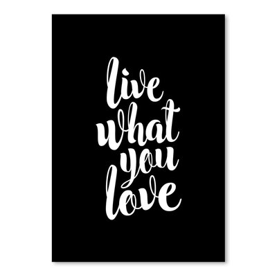 Americanflat Live What You Love Typography Wrapped on Canvas