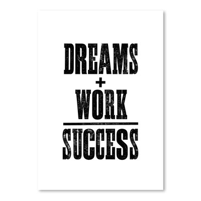 Americanflat Dreams And Work - Success Typography