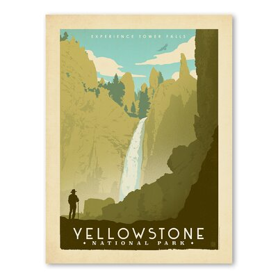 Americanflat Asa National Park Yellowstone 02 Vintage Advertisement Wrapped on Canvas