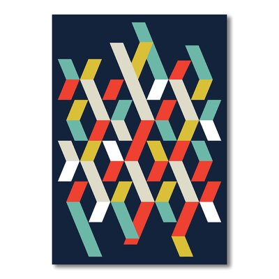 Americanflat Abstract 1 Graphic Art Wrapped on Canvas