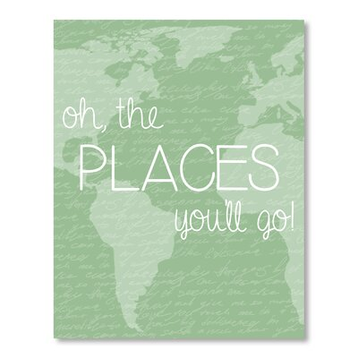 Americanflat Places You'll Go Typography Wrapped on Canvas