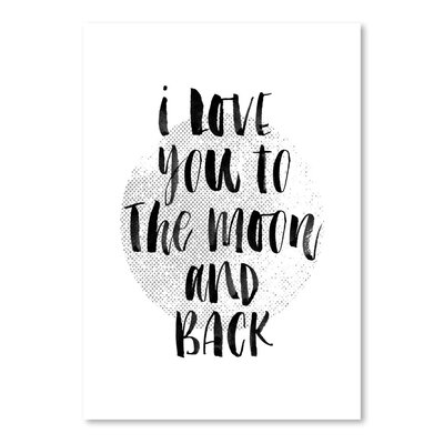 Americanflat I Love You to the Moon and Back 2 Typography