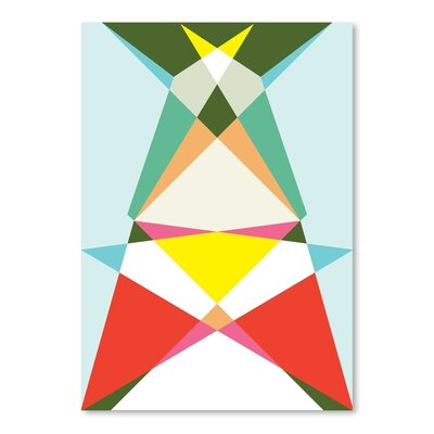 Americanflat Geometric Multi 3 Graphic Art Wrapped on Canvas