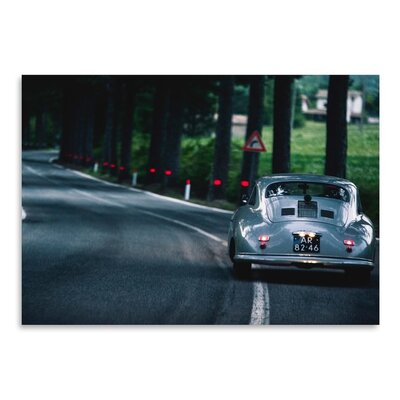 Americanflat Car Street Photographic Print Wrapped on Canvas