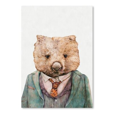 Americanflat Wombat Graphic Art on Canvas