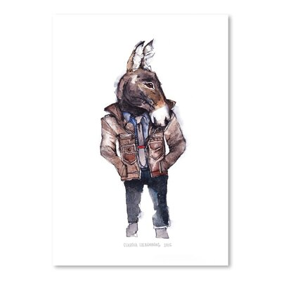 Americanflat Jeffrey the Mule Art Print Wrapped on Canvas