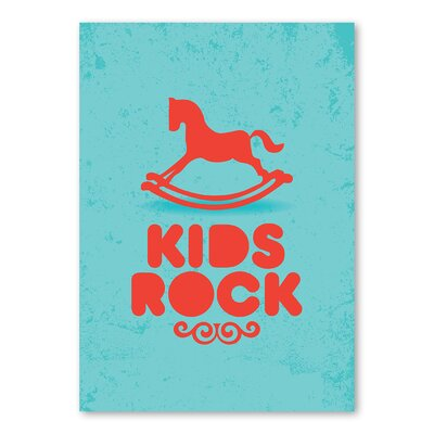 Americanflat Kids Rock Graphic Art on Canvas