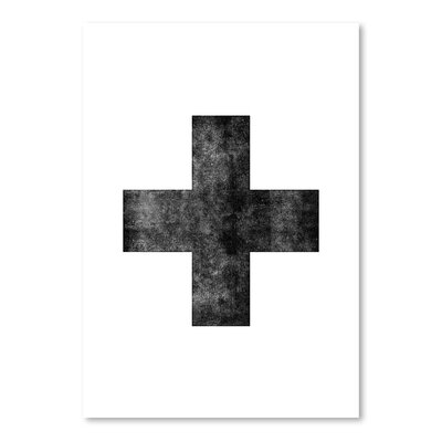 Americanflat Swiss Cross Graphic Art Wrapped on Canvas