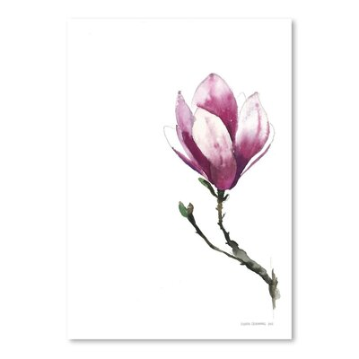 Americanflat Magnoila 2 Art Print Wrapped on Canvas