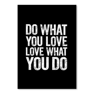Americanflat Do What You Love - Love What You Do Typography