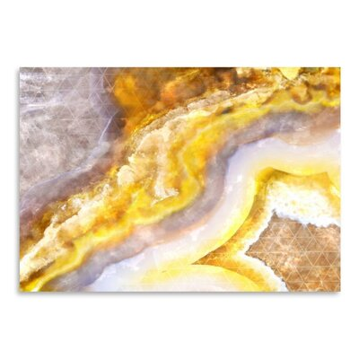 Americanflat Yellow Agate Art Print Wrapped on Canvas