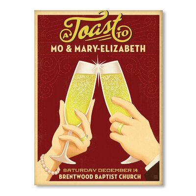 Americanflat Champagne Toast Vintage Advertisement on Canvas