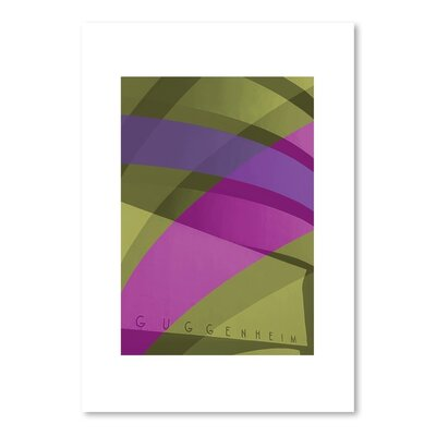 Americanflat Guggenheim 2 Graphic Art Wrapped on Canvas