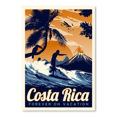 Americanflat Costa Rica 2 Vintage Advertisement on Canvas