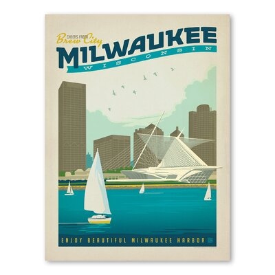 Americanflat Asa Milwaukee Vintage Advertisement Wrapped on Canvas