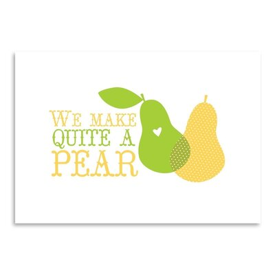 Americanflat Fruit Pear Graphic Art Wrapped on Canvas