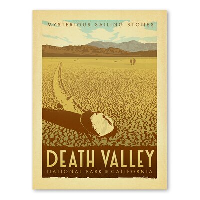 Americanflat Asa National Park Deathvalley Vintage Advertisement Wrapped on Canvas