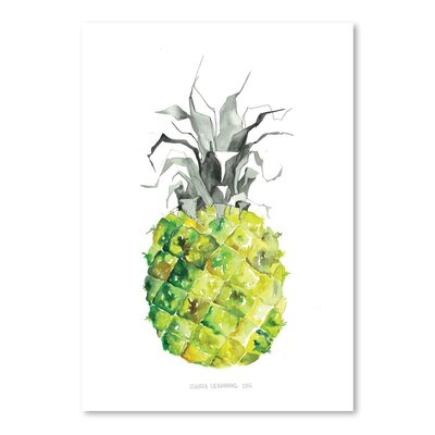 Americanflat Pineapple Art Print Wrapped on Canvas