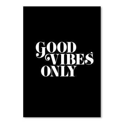 Americanflat Good Vibes Only Typography on Canvas