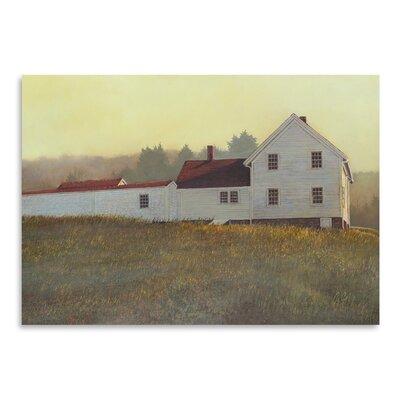 Americanflat Autumn Sunset Monhegan Art Print Wrapped on Canvas