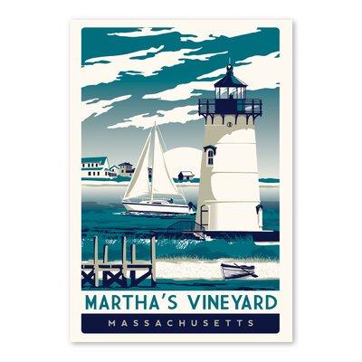 Americanflat Marthas Vineyard Vintage Advertisement Wrapped on Canvas