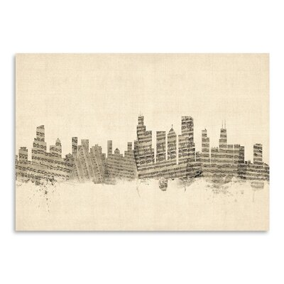 Americanflat Chicago Graphic Art Wrapped on Canvas