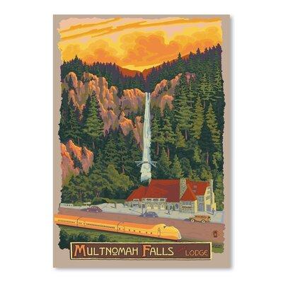 Americanflat Multnomah Falls Vintage Advertisement