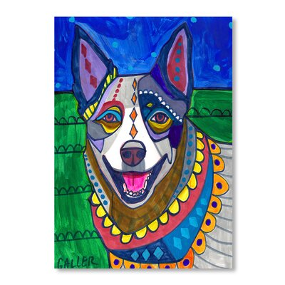 Americanflat Australian Cattle Dog Art Print Wrapped on Canvas
