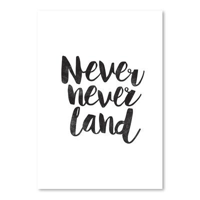 Americanflat Never Never Land Typography