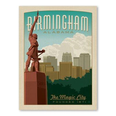 Americanflat Asa Birmingham Vintage Advertisement Wrapped on Canvas