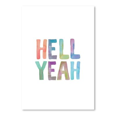 Americanflat Hell Yeah Watercolor Typography