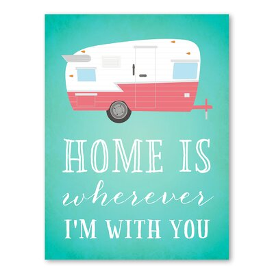 Americanflat Home Trailer Graphic Art Wrapped on Canvas
