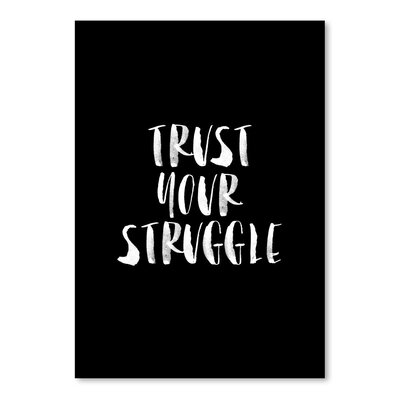 Americanflat Trust Your Struggle Typography on Canvas