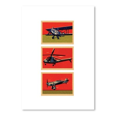Americanflat Czech Planes Graphic Art Wrapped on Canvas