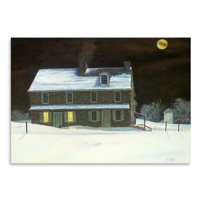 Americanflat Patriot Moon Photographic Print Wrapped on Canvas