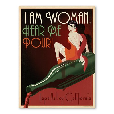 Americanflat Asa I Am Woman Napa Vintage Advertisement Wrapped on Canvas