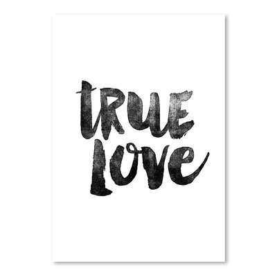 Americanflat True Love Typography Wrapped on Canvas