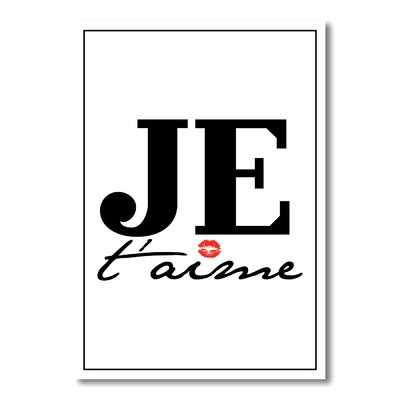 Americanflat Je T'aime Typography Wrapped on Canvas
