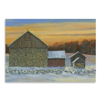 Americanflat Whisky Run Sunset Art Print Wrapped on Canvas