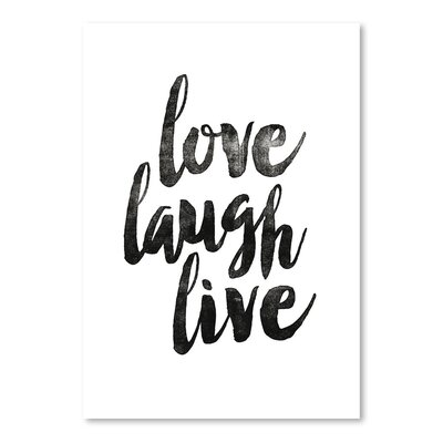 Americanflat Love Laugh Live 2 Typography