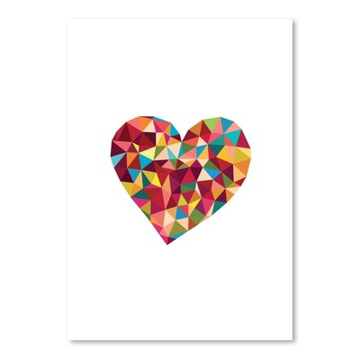 Americanflat Love Heart Polygon Graphic Art Wrapped on Canvas