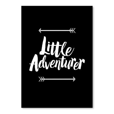 Americanflat Little Adventurer Typography Wrapped on Canvas