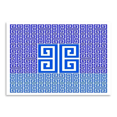 Americanflat Greek Key Block Graphic Art Wrapped on Canvas