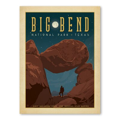 Americanflat Asa National Park Big Bend Vintage Advertisement Wrapped on Canvas
