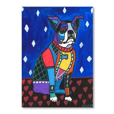 Americanflat Boston Terrier Art Print Wrapped on Canvas