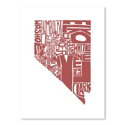 Americanflat Nevada Typography on Canvas